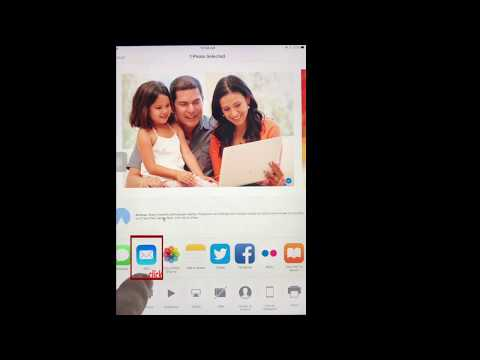 iPad. How to send one picture from iPad by email