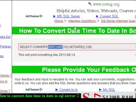 How to convert date time to date in sql server