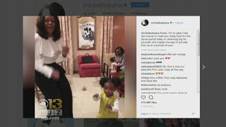 Michelle Obama Meets, Dances With Toddler Who Was Mesmerized By Her Portrait