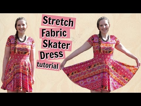 DIY Skater Dress with Sleeves + Circle Skirt - How to Sew Stretch Knit Tutorial