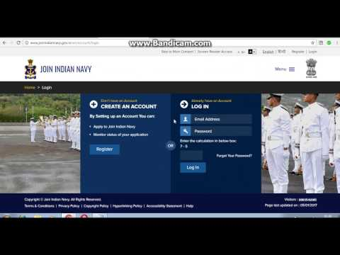 HOW to login the indian navy