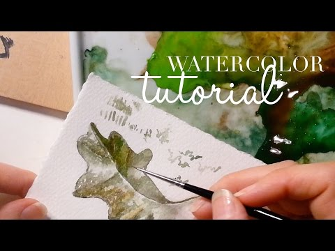 How to use Watercolors: Botanical Art - Oak Leaf for beginners