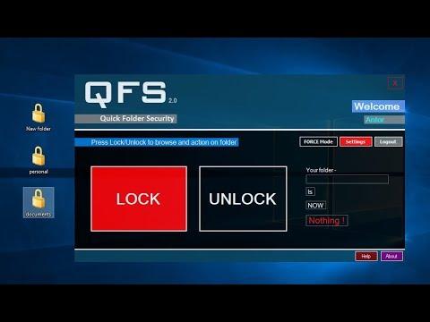 Quick Folder Security (QFS) v2.0