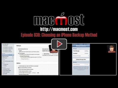 Choosing an iPhone Backup Method (MacMost Now 838)