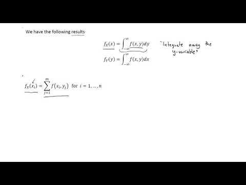Marginal probability density function