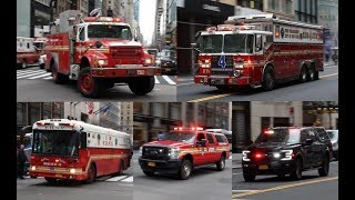 FDNY 10-76 2nd Alarm in TRUMP ZONE; Major Response with LIGHTS, SIREN & AIRHORN!