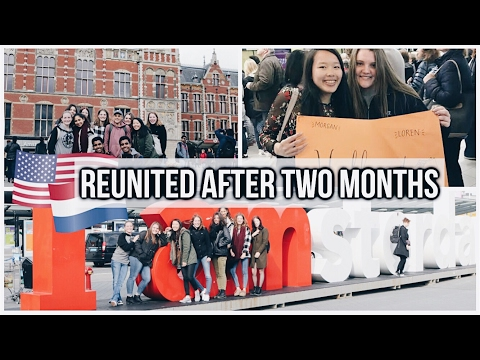 REUNITED AFTER TWO MONTHS IN AMSTERDAM! EXCHANGE VLOG #9