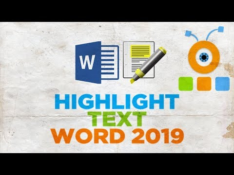 How to Highlight Text in Word 2019