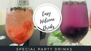 രണ്ട് അടിപൊളി  ടേസ്ടി്ൽ വെൽക്കം ഡ്രിങ്ക്സ്  /Easy fruit flavored  welcome drinks/ Easy Mojito