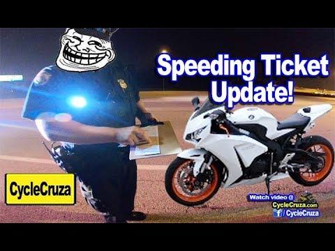 CycleCruza Speeding Ticket Update - (How to Beat a Speeding Ticket)