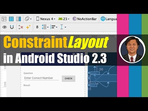 Java Programming for Android 2017: ConstraintLayout in Andr Studio 2.3