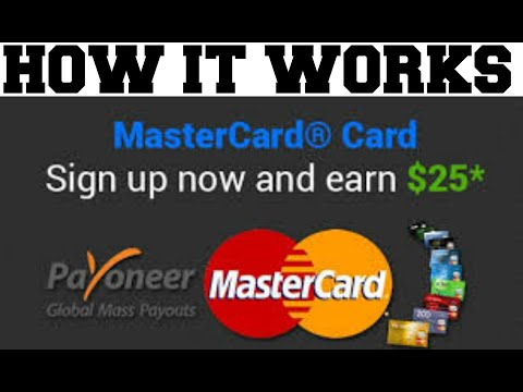 Payoneer How It Works - Sign up & Get $25 Free To Your Card.