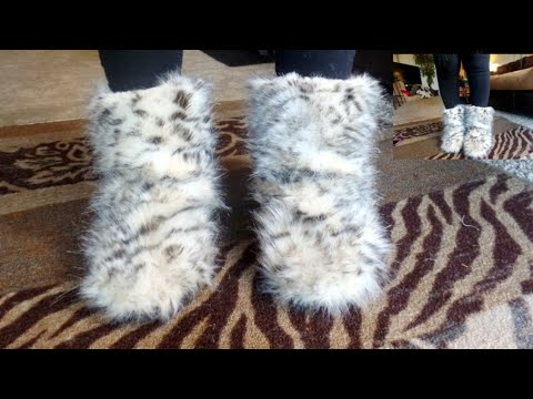 DIY FLUFFY FUR  BOOTS! (REQUESTED VIDEO)