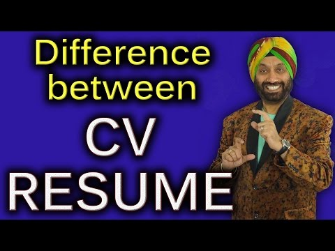 Difference between CV & Resume   How to improve English speaking skills in Hindi   TsMadaan