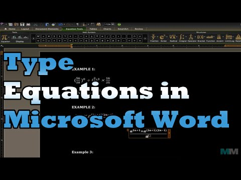 Type Equations in Microsoft Word