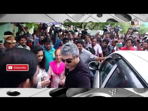 AJITH registered his VOTE #TNElections2016
