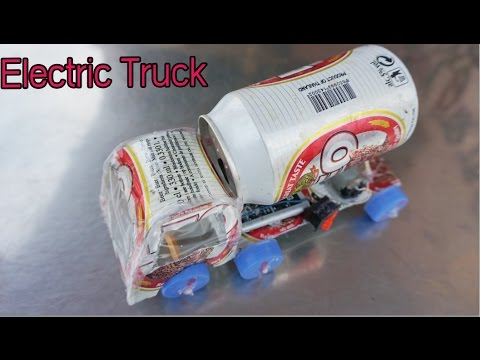 How to Make a Electric Car Using Cans and DC Motor