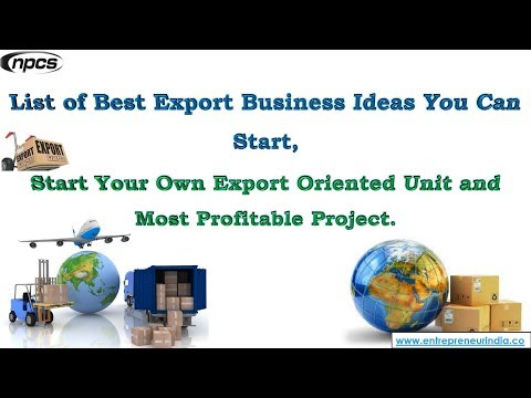 Export Business Ideas You Can Start