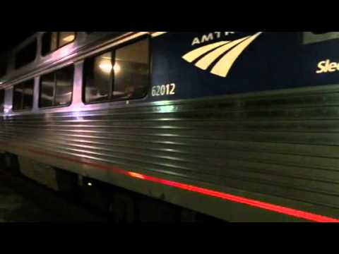 Amtrak silver meteor coming into CHS and boarding sleeper car