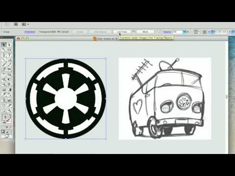 Converting JPEG/Raster to Vector with Illustrator Live Trace