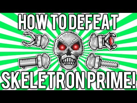 Terraria 1.2: How to Defeat Skeletron Prime! (UPDATED EASY SOLO GUIDE / TUTORIAL) @demizegg