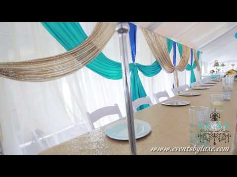 Tent Wedding Decorations by LUXE Weddings and Events
