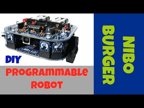 ATmega16 DIY Programmable Robot (NIBO Burger)