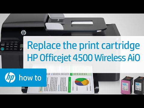 Replacing a Print Cartridge - HP Officejet 4500 Wireless All-in-One (G510n)
