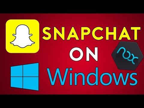 RUN SNAPCHAT on Windows | UPDATED 2018 | Working Camera