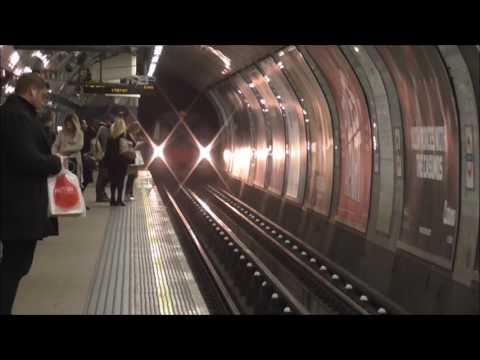 London Underground Tubes At Euston Station