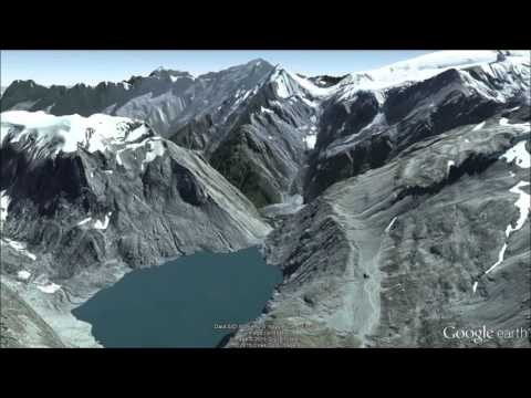 New Zealand Alps Fly-Over Tour 1 - Google Earth