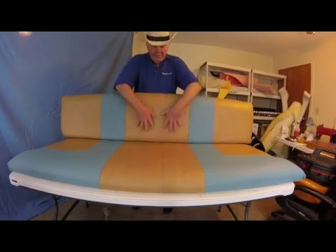 Boat Upholstery Chap 23 part 3 conclusion of Wellcraft bench seat