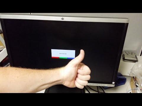 How to fix an HP Compaq LA2405wg monitor back light power supply