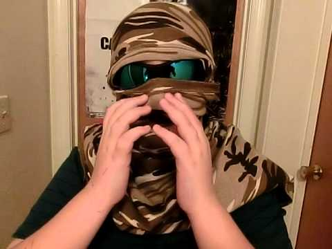 Cool Camo T Shirt Mask