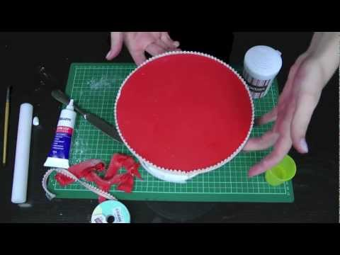 How to Cover / Ice a Cake Board for Perfect Presentation - A Cupcake Addiction How To Tutorial