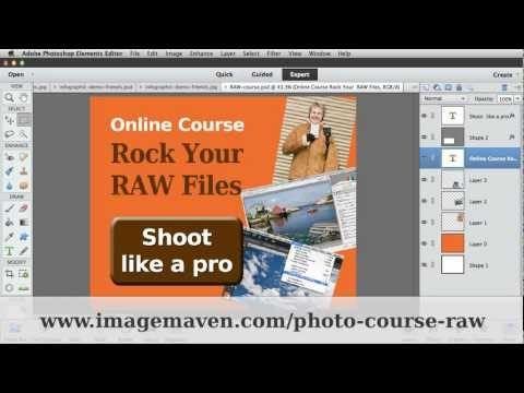 Camera raw and info-graphics in Photoshop Elements