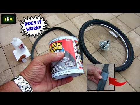 FLEX TAPE Bicycle Inner Tube Test(Pool Liners)