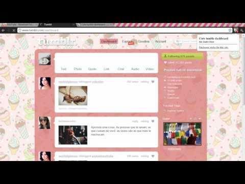 How to change Tumblr Dashboard