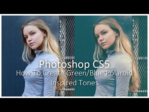 [Photoshop CS5] How To Create Green/Blue Polaroid Inspired Tones