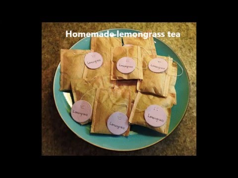 Lemongrass Tea from Garden to Tea Bags