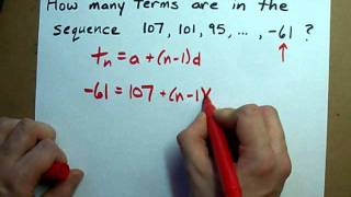 How to Find the Number of Terms in an Arithmetic Sequence