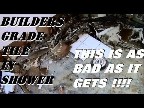 SHOWER COMPLETELY DESTROYED !