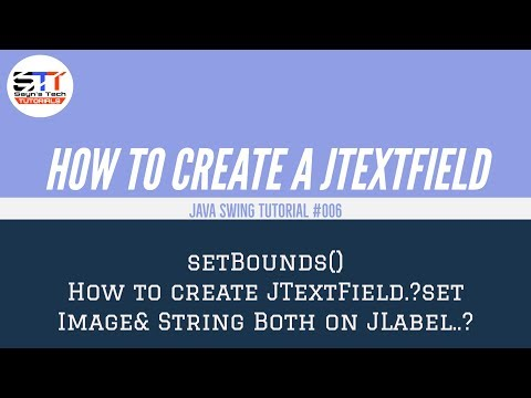 JTextField Bounds, Icon, Alignment | Java Swing Tutorial #006