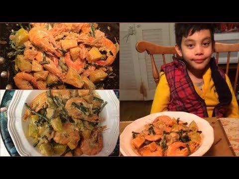 Ginataang Kalabasa (Pumpkin, Shrimp and Beans in Coconut Milk)