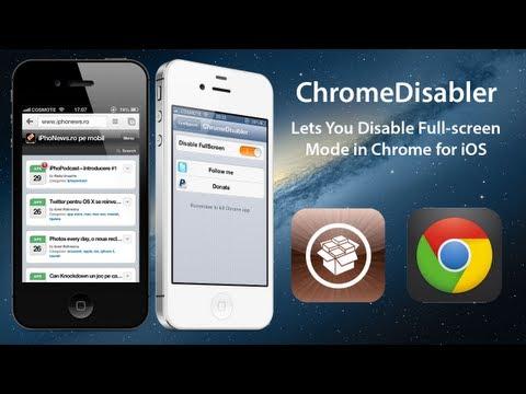 ChromeDisabler: Lets You Disable Fullscreen Mode in Chrome for iOS