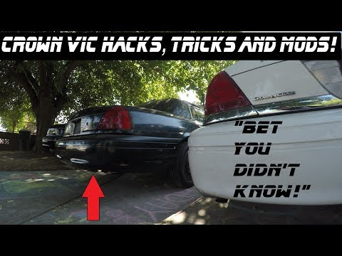 4 Crown Vic Hacks, Mods Tricks & Tips! Police Interceptor