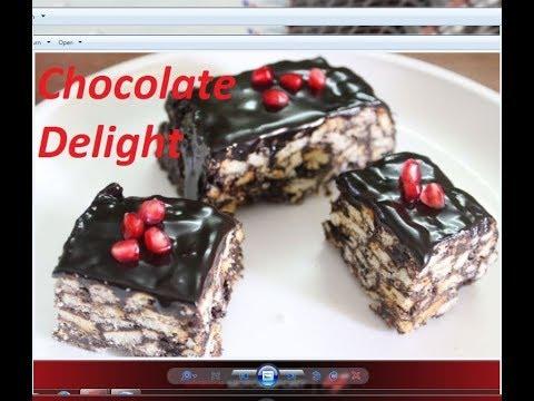 चॉकलेट और बिस्कुट से बनाये यह अनोखी रेसिपी /chocolate delight recipe by Raks HomeKitchen