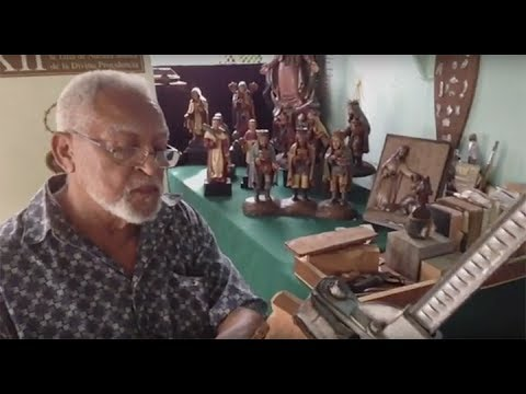 Artisan Luis Gonzalez and the process of Carving Wooden Saints