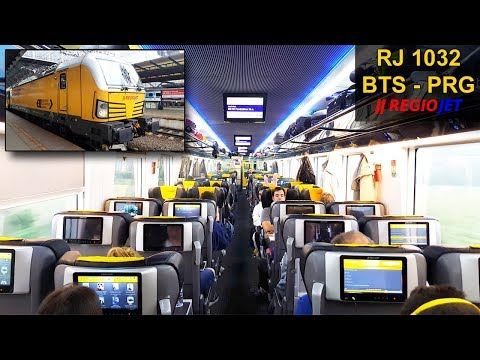 TRAIN EXPERIENCE   Bratislava - Prague   BUSINESS CLASS   REGIOJET InterCity Train