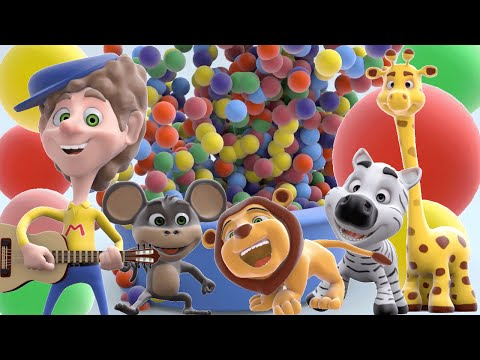 Ball Pit Color Song Show | Learn Colors and Animals | 3D Rhymes